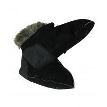 Носки меховые дубленые черного цвета