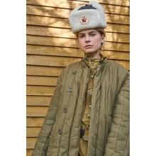 Шапка ушанка офицерская времен войны (новодел)