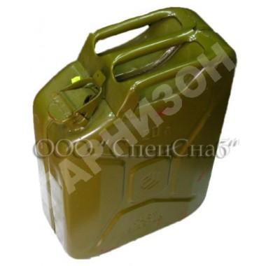 Канистра стальная 20 л зеленого цвета