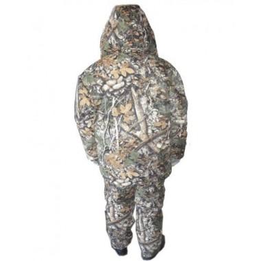 Костюм зимний Охотник (куртка+ полукомбинезон) тк. Микрофибра расцветка осенний Лес